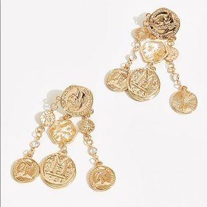 All That's Gold Glitters Medallion Earrings
